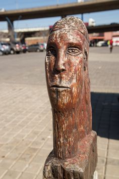 Newtown Street Busts. #Africa #SouthAfrica #Johannesburg #JHB #weknowbecausewego South Africa, Lion Sculpture, Statue, Street, Roads, Sculpture, Sculptures