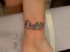 diabetic tattoo instead of medical alert bracelet