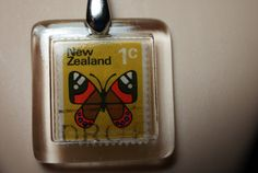 Vintage New Zealand 1C Red Admiral Butterfly by JewelReMotion, $15.99