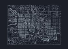 BLUEPRINT BALTIMORE MAP Old Map of by EncorePrintSociety on Etsy