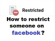 How To Restrict Friends On Facebook? - How do I restrict someone on Facebook? Restrict friend list is different from unfriend or blocking friends. If you restrict someone on Facebook, both of you still friend. Friends List, You Can Do, Have Fun, Facebook, Learning, Studying, Teaching, Onderwijs