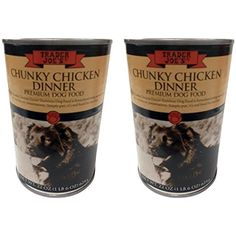 Trader Joes Premium Dog Food Chunky Chicken Dinner 2 Cans --- The details can be found by clicking on the image. (This is an affiliate link and I receive a commission for the sales)
