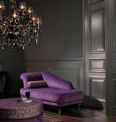 Gray Room W Purple Chaise