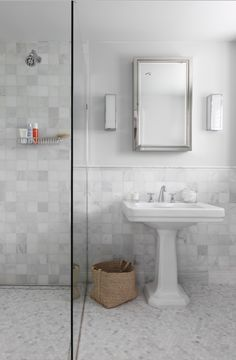 The one level shower and bath design is easy for people of all abilities to use and sleek. The linear drain is also a sharp feature. Cheap Bathroom Remodel, Shower Remodel, Budget Bathroom, Bathroom Wall Decor, Small Bathroom, Bathroom Remodeling, Remodeling Ideas, Bathroom Ideas, Office Interior Design