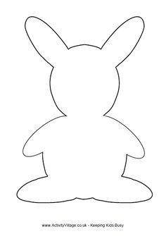 Rabbit template - simple outline of rabbit for crafts...... ****CRAFT FOR KIDS OF ALL AGES, color Peter Rabbit at birthday party ****