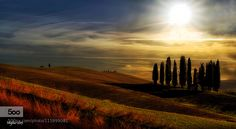 Sunset at San Quirico d'Orcia by miglius - Tagged by Mak Khalaf