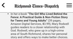Praise GOD I just got an email about my book being featured in Richmond Times Dispatch! Visit http://m.richmond.com/entertainment/books/article_59a68017-29a9-5a1d-a0df-292149a3d27d.html?mode=jqm to see more. #TheGirlWhoLivedBehindTheFence #books #bookstagram #autobiography #lifestyle #forwardmotion #comment #Motivation #empowerment #instagood #share #networking