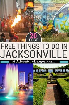 20 Best Free Things to do in Jacksonville FL Our favorite free attractions in Jacksonville Florida include Jax Beach Friendship Fountain Southbank Riverwalk Jacksonville Landing MOSH Mouth Cummer Museum of Art and Gardens Treaty Oak and Jacksonville Florida, Florida Usa, Visit Florida, Florida Travel, Florida Beaches, Travel Usa, Sandy Beaches, Florida Keys, Viajes