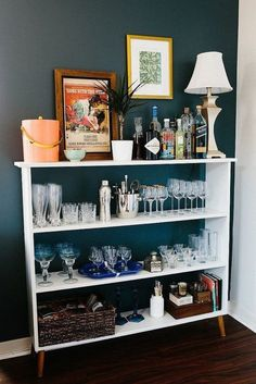 Furniture that can be used as a bar when you don't have extra room in your home for a bar.