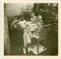 Vintage Photo Childrens Private Picnic Photography by dawnandross, $1.95