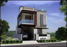 Resultado de imagem para elevations of independent houses Building Elevation, House Elevation, Front Elevation, Independent House, House Map, Home Room Design, Floating House, Wall Design, Ui Design