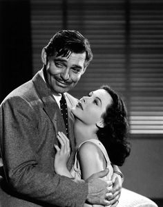 Heddy Lamar and Clark Gable