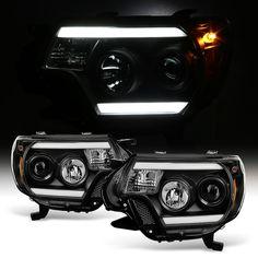Spyder 2012-2015 Toyota Tacoma LED DRL Projector Headlights - Black