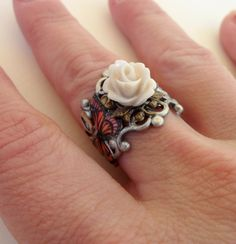 Scrap Book Ring Custom Ring by bellamantra on Etsy, $35.00