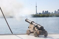 On board Cannon Cannon, Toronto, Cruise, Guns, Boat, Weapons Guns, Dinghy, Cruises, Boats