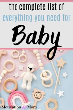 Here's the ultimate list of baby registry must haves! You will love this baby registry checklist, it has the complete list of baby registry items. When you're preparing for baby, you will want to make sure you have everything you need for baby! #babyregistry #babyregistrymusthaves #babyregistrychecklist #preparingforbaby