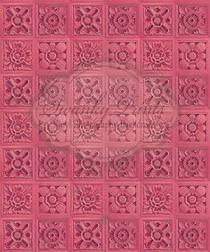 Girly Pink Floral Tiles - Oz Backdrops and Props