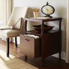 Natura File Cabinet   Mahogany Brown