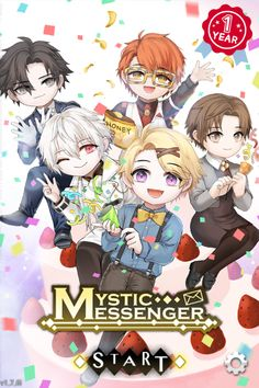 Happy one year!! :3<<<YOURE GONNA GRT CRUMBS ALL OVER THE FLOOR SAEYOUNG. DO YOU KNOW HOW LONG IT TOOK ME TO CLEAN THIS PLACE? THE OIL WILL GET STAINED TO THE FLOOR. yoosung, jaehee, youre fine those are easy to clean, bUT SAEYOUNG YOU BETTER CLEAN THAT UP YOUNG MAN!!! ( im sorry )