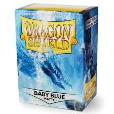 Dragon Shield Standard Card matte Sleeves BABY BLUE  BOX 100 Magic POKEMON SUPER