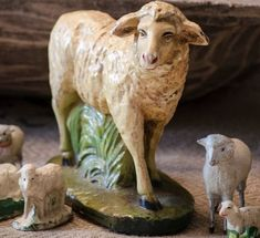 Lg Vintage Nativity Sheep Chalkware by edithandevelyn on Etsy Shabby Chic Christmas, Antique Christmas, Primitive Sheep, Baa Baa Black Sheep, Sheep And Lamb, Lord Is My Shepherd, Counting Sheep, Easter Parade, Christmas Nativity
