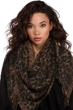 Leopard Brush With Adventure Triangle Scarf | WindsorCloud