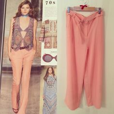 Get the 70s #trend this season in our peach trousers! In store or online now! http://www.maryandmilly.co.uk