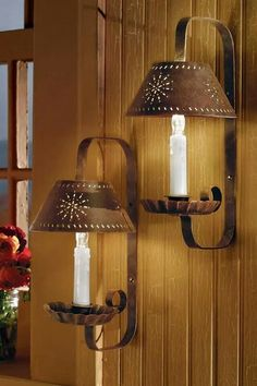 Punched Candle Wall Sconces
