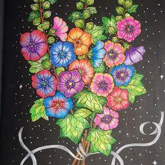 Instagram media nguyengocly - #blomstermandala #blomstermandalamålarbok #wildflowers