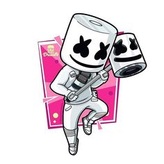 Marshmello Designed by @angeldrawin • You need a logo? Just tap the link in bio! • #logotoons #logo #illustrations #branding #design…