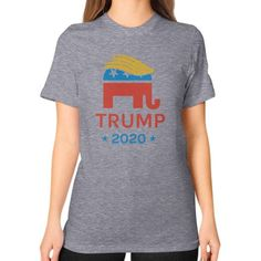 Donald Trump 2020 Republican Elephant - Unisex T-Shirt (on woman)