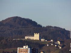 Maria Plain pilgrimage church - view from Kapuzinerberg, Salzburg Pilgrimage, Austria, River, City, Places, Summer, Outdoor, Outdoors, Summer Time