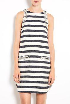 Chyrel Embellished Stripe Dress by By Malene Birger