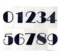 Most current No Cost art deco House Numbers Popular Householders do not always look at the house numbers visibility. In addition to what number of realize that ho. Art Deco Tiles, Tile Art, Fancy Numbers, Art Nouveau, Tile House Numbers, Number Art, Number Fonts, Graffiti Lettering, Typography