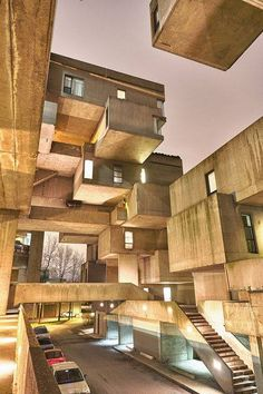 Habitat 67, or simply Habitat, is a model community and housing complex in Montreal, Canada designed by Israeli–Canadian architect Moshe Safdie.