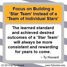 Teamwork Quotes. Team Building Quotes. Quotes on Team Building. Quotes on Teamwork. Motivation Magazine. Ty Howard. ( MOTIVATIONmagazine.com )