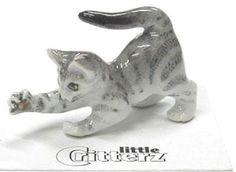 little Critterz Miniature Grey Tiger Kitten - LC911