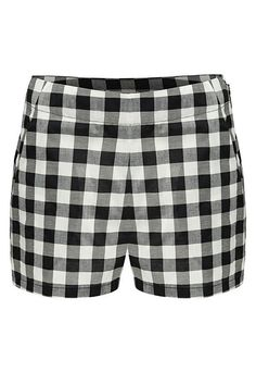 This vintage-inspired gingham short by Lilya features hip welt pockets hidden side zip closure and a high waisted fit.    Fit: This style runs true to size.    Care: Hand wash in cool water.    Fabrication: 100% Cotton    Color: Black White    Origin: Handmade in Indonesia Elly Short by LILYA. Clothing - Shorts - Mini Greenville South Carolina