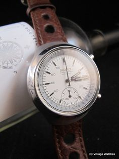 a0aa9e98d63 NEW DC VINTAGE WATCHES AUCTION  Vintage 1976 Seiko 6139-7100 Helmet  Automatic Chronograph