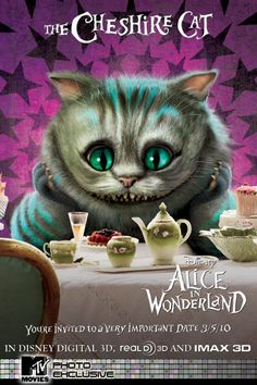 TB103. The Cheshire Cat / Alice in Wonderland / Movie Poster (2010) / #Movieposter / #Timburton