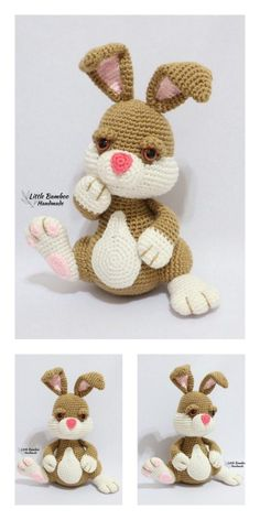 Amigurumi Bunny in Dress Free Pattern – Free Amigurumi Patterns Crochet Rabbit Free Pattern, Crochet Amigurumi Free Patterns, Crochet Animal Patterns, Stuffed Animal Patterns, Crochet Blanket Patterns, Free Crochet, Knitted Toys Patterns, Crochet Animals, Easter Crochet