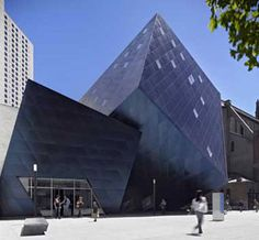 """Contemporary Jewish Museum, founded 1984 in San Francisco, California; opened in the Daniel Libeskind adaptive re-use structure in 2005; home to """"the Museum's mission to celebrate Jewish culture, history, art, and ideas within the context of 21st-century perspectives."""""""