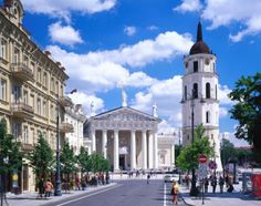 Cathedral square in the heart of Vilnius