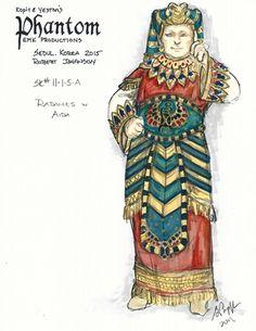 Kopit & Yeston's Phantom (Radames in Aida). EMK Productions, Seoul, Korea. Costume design by Gregory A. Poplyk. 2015
