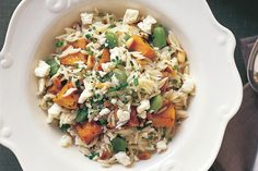 Risoni is a rice-shaped pasta which works extremely well in summer salads like this one.