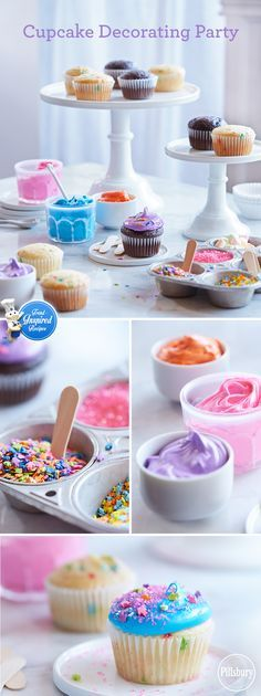 What's better than a party with Funfetti® cupcakes? A party where you decorate them yourself! Let everyone add their favorite color frosting & sprinkles and enjoy!