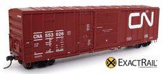 "FMC 5277 ""Combo Door"" Boxcar : CN : 1985 ""Wet Noodle"" with 9 Panel Roof"