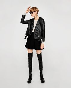ZARA - WOMAN - FLAT OVER-THE-KNEE BOOTS WITH TOE DETAIL