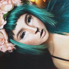 omg halloween make up goals damn Makeup Fx, Artist Makeup, Cosplay Makeup, Makeup Inspo, Makeup Trends, Beauty Makeup, Faun Makeup, Great Gatsby Party Outfit, Halloween Looks