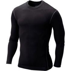 Muchacho de los hombres de Compresión Base Layer Top Ajustado Camisa Debajo de la Piel de Manga Larga T-shirt Tops Camisetas